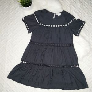 {Loveriche} Black Dress with large eyelet detail